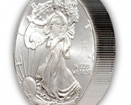 Two OZ. GEM BU Silver Eagle Round