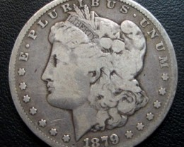 1879 MORGAN DOLLAR SILVER COIN   CO 1700