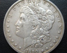 1890 MORGAN DOLLAR SILVER COIN   CO 1702