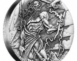 ZEUS GODS OF OLYMPUS 2 OZ HIGH RELIEF SILVER COIN