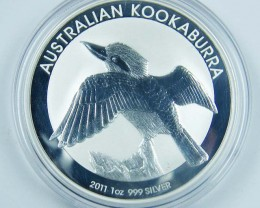 2011 kookaburra One Ounce Silver Coin
