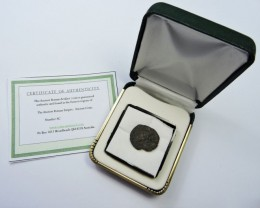 ANCIENT ROMAN  BRONZE  COIN  DISPLAY AC 804