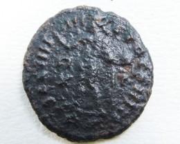 ANCIENT ROMAN  BRONZE  COIN  DISPLAY AC 815