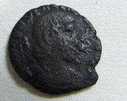 ANCIENT ROMAN  BRONZE  COIN  DISPLAY AC 835