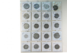 20 POST 1946 SILVER AUSSIE COINS  CO 1720