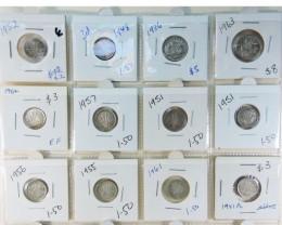 20 POST N PREE  1946 SILVER AUSSIE COINS  CO1723