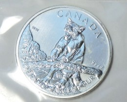 SEALED  2012 Canadian Silver Cougar 1oz 999.9 Fine Silver co1773