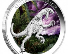 AUSTRALOVENATOR 2014 1OZ SILVER PROOF COLOURED COIN