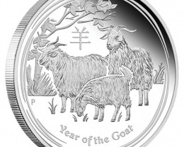 2015 Year Of The Goat Lunar One Ounce Silver Coin