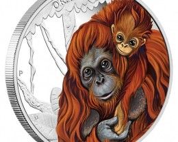 MOTHER'S LOVE – ORANGUTAN 2014 1/2OZ SILVER PROOF COIN