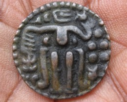 Ceylon 800 year old Kahawanu King SahasaMalla Copper Massa Coin 1200 AD