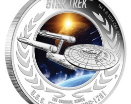 STAR TREK - THE ORIGINAL SERIES - U.S.S. ENTERPRISE NCC-1701 2015 1OZ SILVE