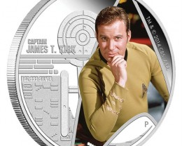 Star Trek The Original Series - Captain James T. Kirk 2015 1oz Silver Proof