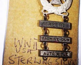 WW11 top Award  Machine Gun,Auto Rifle  badge   AGR1373