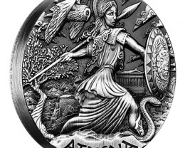 Goddesses of Olympus – Athena 2015 2oz Silver High Relief Coin