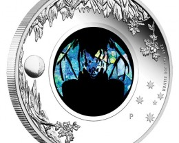 Australian Opal Series - Ghost Bat 2015 1oz Silver Proof Coin