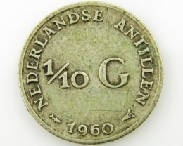 Colonial dutch silver  .640 coin coin CO 2040