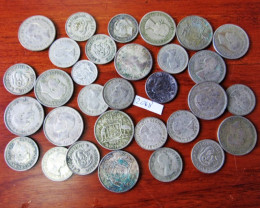 250 Grams POST1946 silver coins Co2068