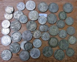 350 Grams POST1946 silver coins Co2070