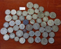 350 Grams POST1946 silver coins Co2066