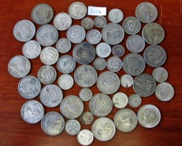 350 Grams POST1946 silver coins Co2074