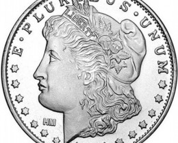 Morgan Dollar medallion oneo ounce  .999 pure silver