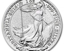 2016 .999 silver Britannia Royal mint