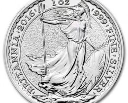 2016 .999 silver Britannia Royal mint