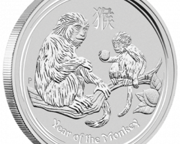 1/2 ounce 2016 monkey lunar 11 series