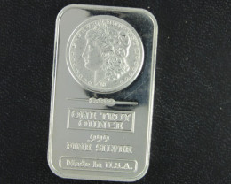 Morgan .999 pure silver bar one ounce