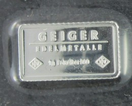 one gram bar .999 pure silver