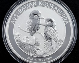 2013 Kookaburra One  Ounce Roll 20 Silver Coin