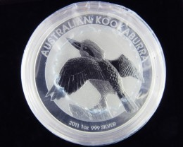 2011 Kookaburra One  Ounce Roll 20 Silver Coin