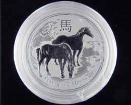 2014 Year horse half   Ounce Roll 20 Silver Coin