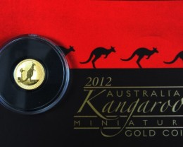 2012 Kangaroo 0.016 Ounce Gold coin