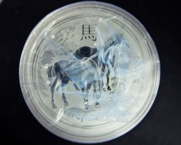 2014 Year of The Horse One  Ounce Roll 20 Silver Coin