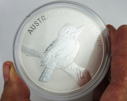 2010 Kookaburra TEN  Ounce Silver Coin