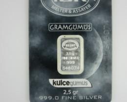 2.5 Gram IGR silver Bar