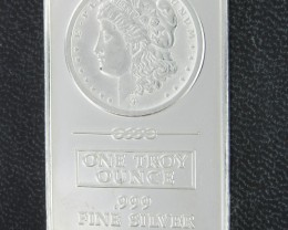 Morgan .999 pure silver bar