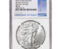 2015-(W) American Silver Eagle - NGC MS70 - First Day of Issue - NGC 1st La