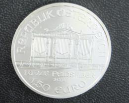 2014 Austrian Philharmonic 1 oz silver coin pure 999