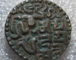 Ceylon Ancient Kahawanu Copper Massa Coin King SahasaMalla 1200 AD.