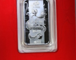 10 GRAM PAMP SILVER BAR DRAGON MINTED