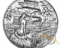 Siren Medallion 2 ounces pure silver .999