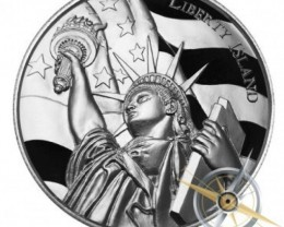 Liberty island .999 pure silve 2 ounces