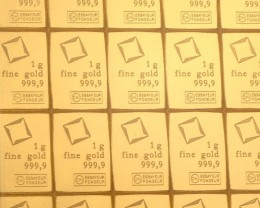 20 Pieces One Gram Gold Combi Bars
