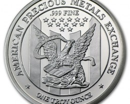 .999 fine Silver Round one ounce American Metals exchange