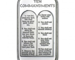 Ten Commandments (w/Box & Capsule) i oz .999 pure silver