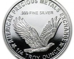 1/4 Oz  silver Liberty .American precious Metals