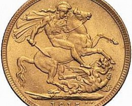 1915 Gold soverign B.M  0.2354 oz AGW